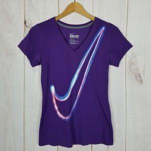 Nike Purple Logo Graphic Tee Slim-Fit - Small